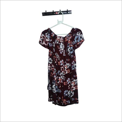 Ladies Floral Printed Half Sleeves Tunic
