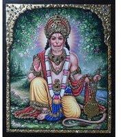 Silver Hanuman Painting