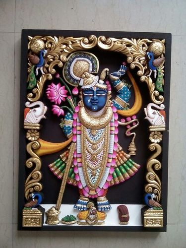 Silver Ambose Antique Shreenath Ji Painting
