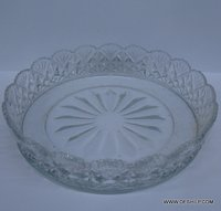 Glassware Serve Bowl Traditional Kitchen Dinner Clear Glass Helezon Glass & Bowl Set