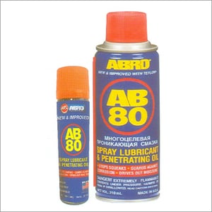 Spray Lubricant With ptfe