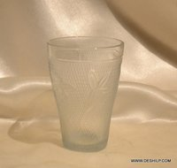 Frosted Tumblers Carley Clear Glasses Lorenzo Crystal Glasses