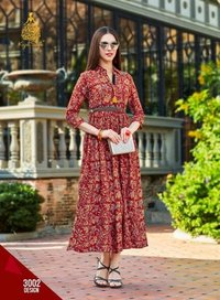 FANCY REYON FABRIC KURTI