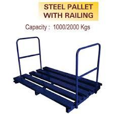 Steel Pallet with Railing