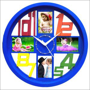 Personalised Clock Blue