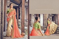 Shiny Silk Designer Work Saree Shopping