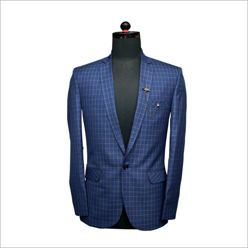 Single Button Checked Blazer