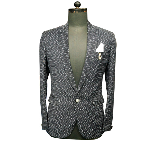 Mens Slim Single Button Blazer