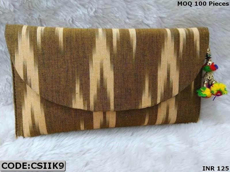 Original ikkat Print Clutch Bag