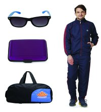 Mens Track suit & Duffle bag Combo(nevy & Red)