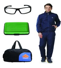 Abloom Track suit & Duffle bag Combo (nevy & blue )
