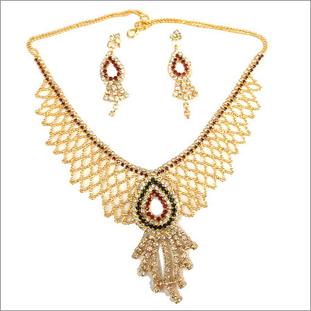 Faux Diamond Jewellery Necklace Set
