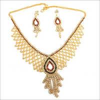 Faux Diamond Jewellery Necklace Set