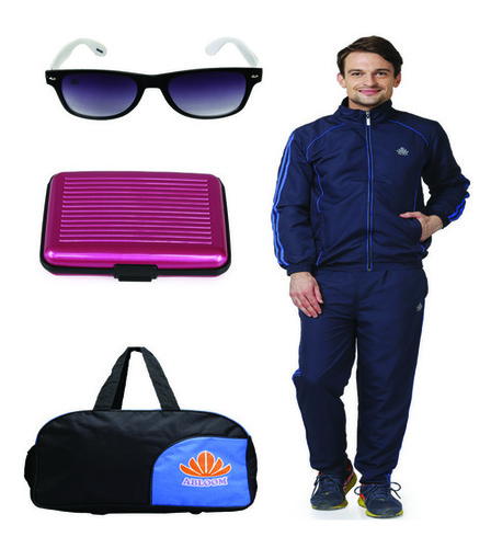 Mens Track suit & Duffle bag Combo(nevy&royalblue)