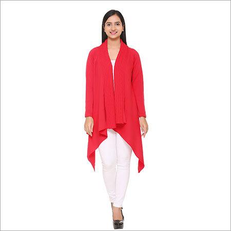 Ladies woolen kurtis( Red)