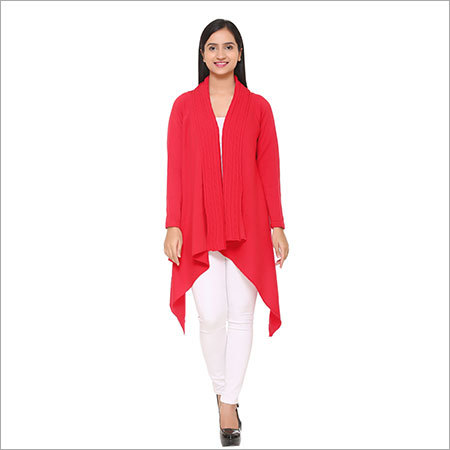 Ladies woolen kurtis( Red)