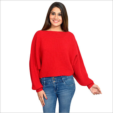 Women Woolen Top(RED)PH-AC-RD-100016-001