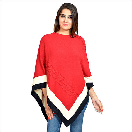 Ladies Poncho (PH-CT-RD-100015-001