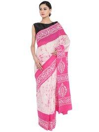 Batik Print Fancy Cotton Saree