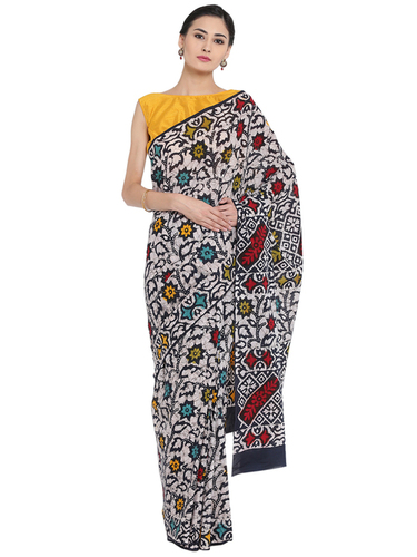 Sanganeri Batik Print Cotton Saree