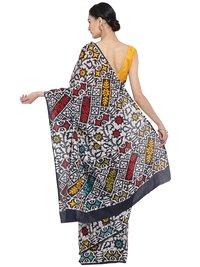 Sanganeri Batik Print Cotton Saree