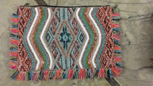 Handloom Fabric clutch