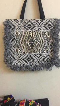 Handloom Fabric ladies handbag