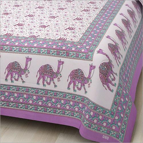 Camel Print Double Bedsheet