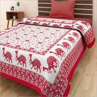 Camel Printed Single Bed Sheet