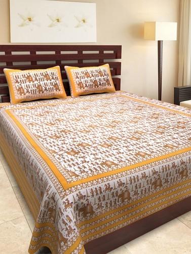 Elephant Print Double Bedsheet