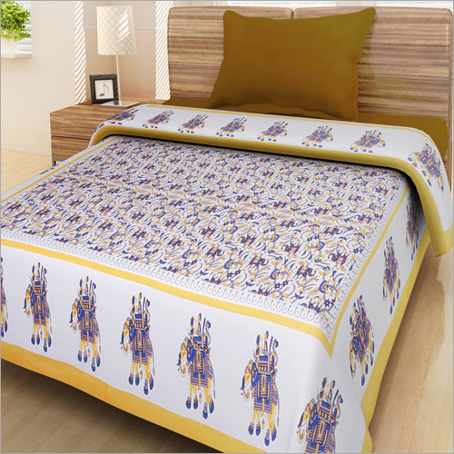 Delicieux Elephant Printed Single Bed Sheet