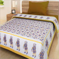 Elephant Printed Single Bed Sheet