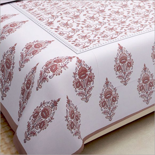 Flower Print Double Bedsheet