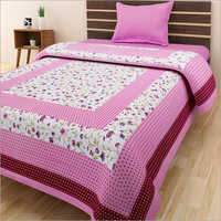 Flower Print Single Bed Sheet