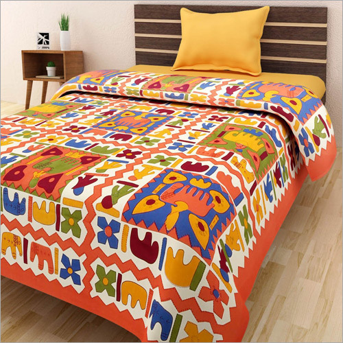 Multicolour Single Bed Sheet