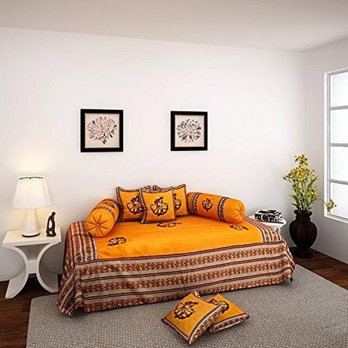 Orange Patch Work Diwan Set