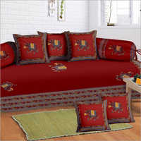 Red Patch Work Diwan Set