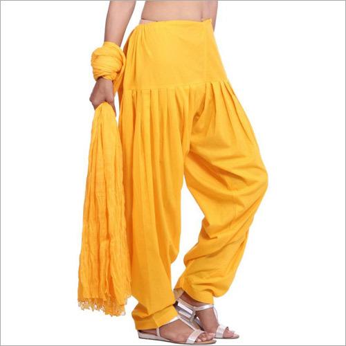 Cotton Patiala Yellow Salwar Dupatta