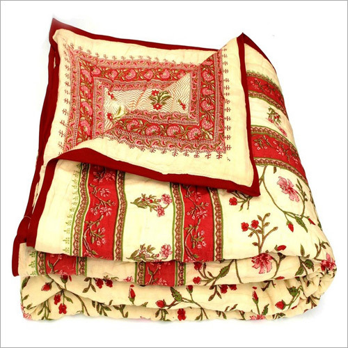 Red & Yellow Jaipuria Quilt