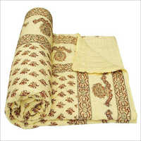 Yellow Colour Jaipuria Quilt