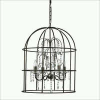 Iron Hanging Chandeliers with rustic finish