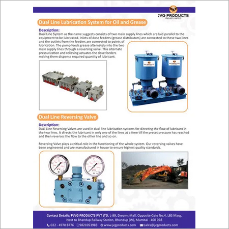 Dual Line Lubrication System for Oil & Grease