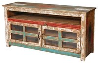 Reclaimed Wood Cabinet Storage Tv & Media Console Unit
