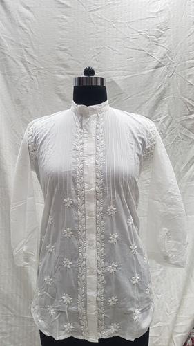 Ladies Cotton Pintex Shirt/Kurti