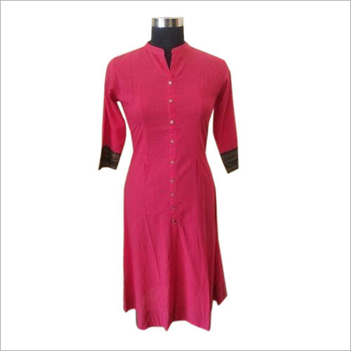 Band Collar Cotton Kurti