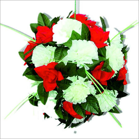 Decorative Red And White Flower