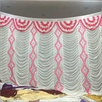 White and Pink Curtain