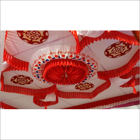 Red and white Ceiling Shaiyana