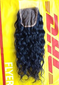 Top grade 100% unprocessed Raw Natural Curly Hair Closure