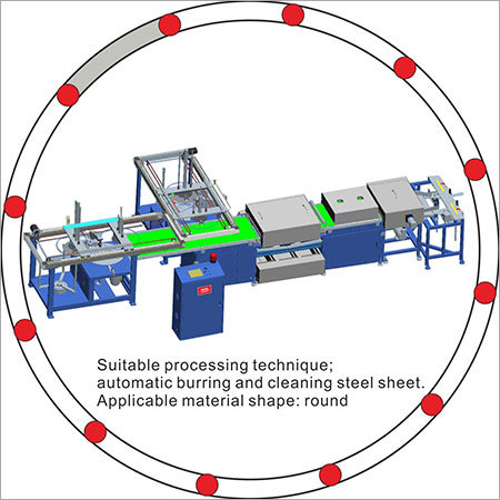 Automatic cleaning and burring machine